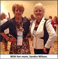 with mom sandra wilson