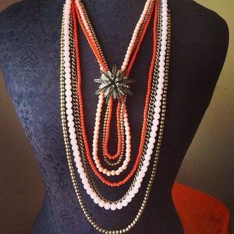 Papaya necklace with Notting Hill enhancer